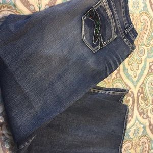 Plus size woman's jeans